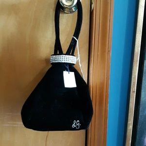 NWT LULU GUINNESS velvet and rhinestone bag